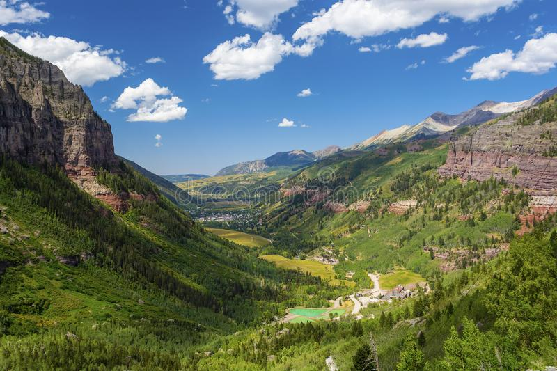 Telluride, Colorado in the Rocky Mountains on a Sunny Day.  royalty free stock images