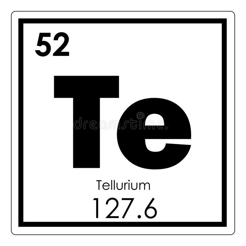 Tellurium chemical element royalty free illustration