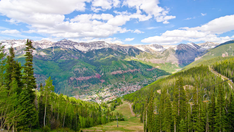 Tellururo, Colorado, la città più bella in U.S.A. fotografia stock libera da diritti