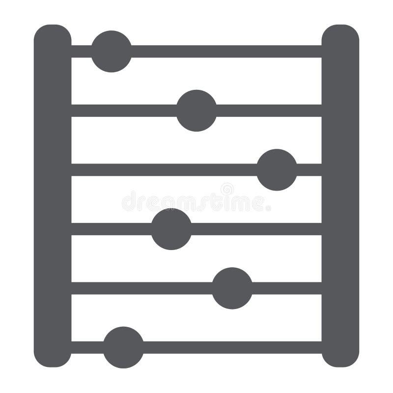 Telraam glyph pictogram, boekhouding en wiskunde, tellend teken, vectorafbeeldingen, een stevig patroon op een witte achtergrond vector illustratie