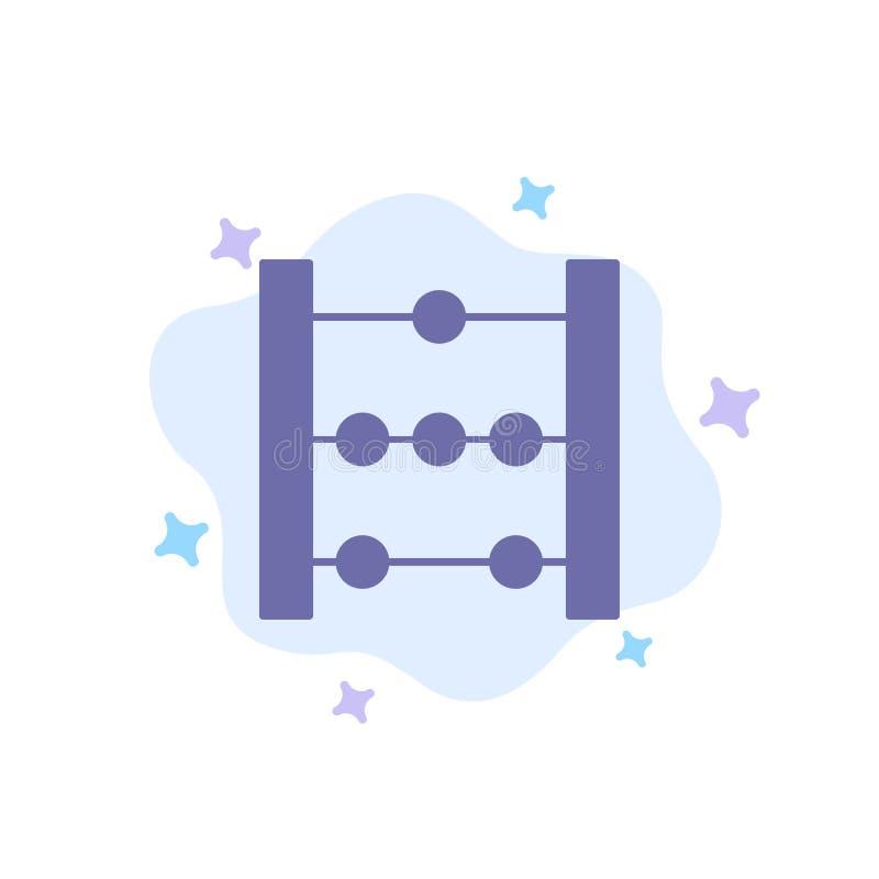 Telraam, Onderwijs, Wiskunde Blauw Pictogram op Abstracte Wolkenachtergrond stock illustratie