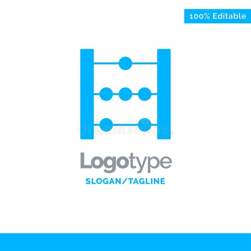 Telraam, Onderwijs, Wiskunde Blauw Stevig Logo Template Plaats voor Tagline vector illustratie