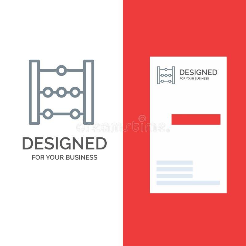 Telraam, Onderwijs, Wiskunde Grey Logo Design en Visitekaartjemalplaatje stock illustratie