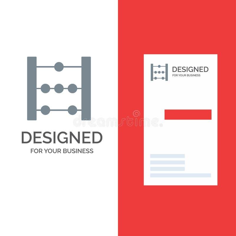 Telraam, Onderwijs, Wiskunde Grey Logo Design en Visitekaartjemalplaatje vector illustratie