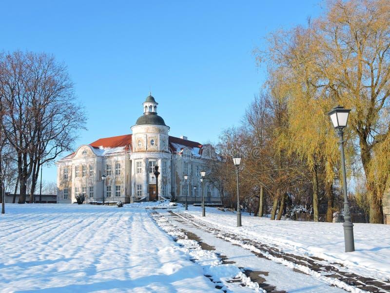 Telsiai主教管区的法庭,立陶宛 库存照片