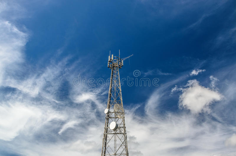 Telstra Tower in Dunwich stock photography