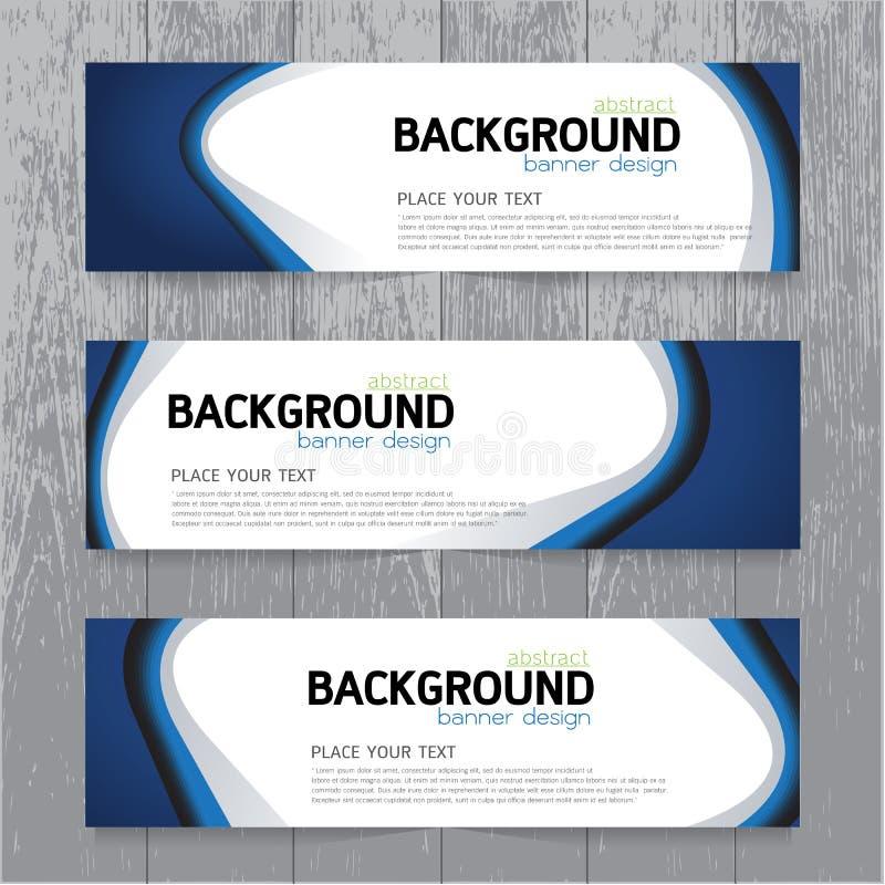 Tem réglé d'affaires horizontales de collection de bannière de fond de vecteur illustration de vecteur