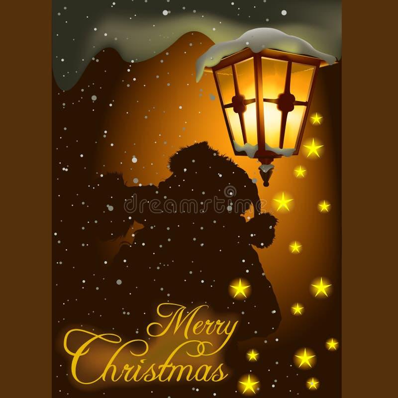Tema 06 de la Navidad stock de ilustración