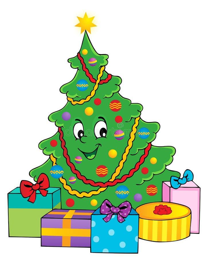 Tema 1 del árbol de navidad ilustración del vector