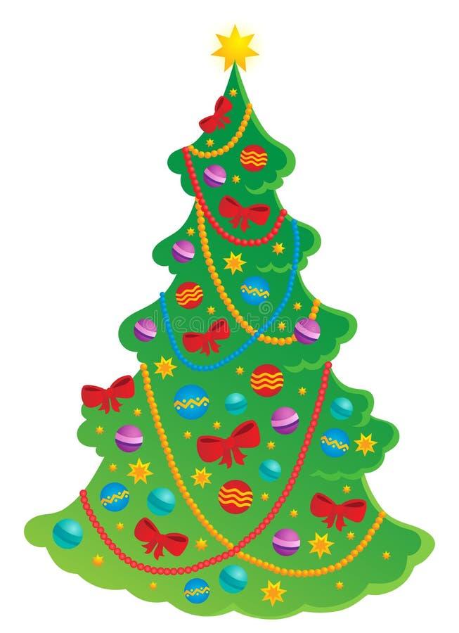 Tema 2 del árbol de navidad libre illustration