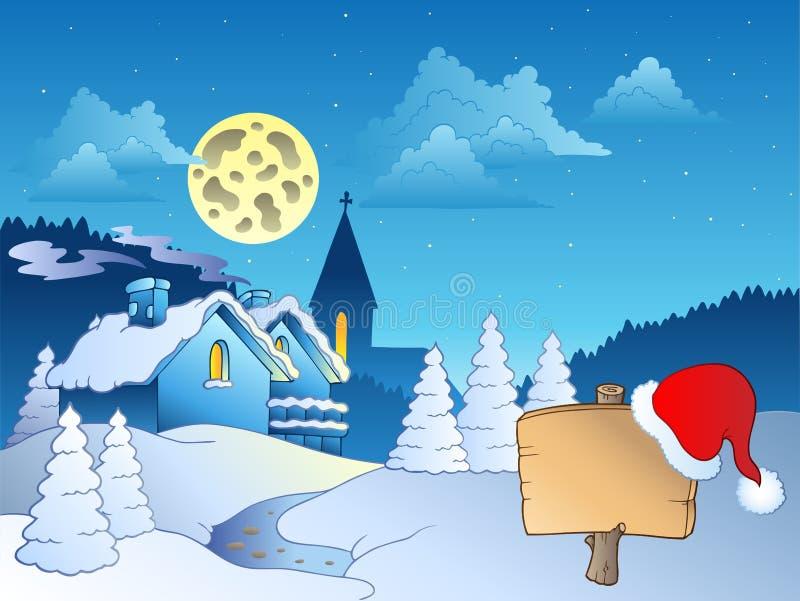 Tema 2 di Buon Natale illustrazione di stock