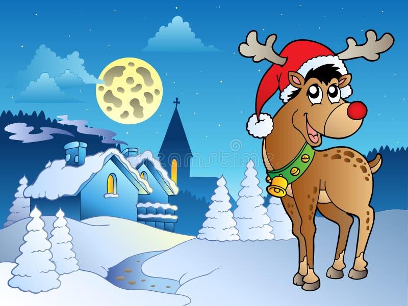 Tema 5 di Buon Natale illustrazione vettoriale