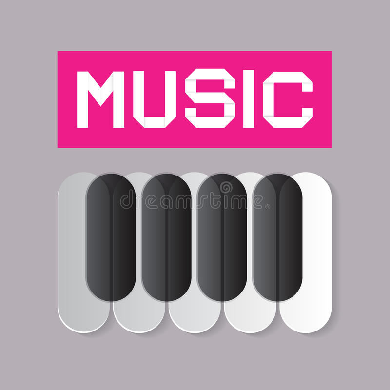 Tema abstracto de la música stock de ilustración
