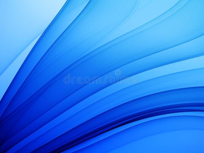 Tema abstrato azul profundo ilustração royalty free