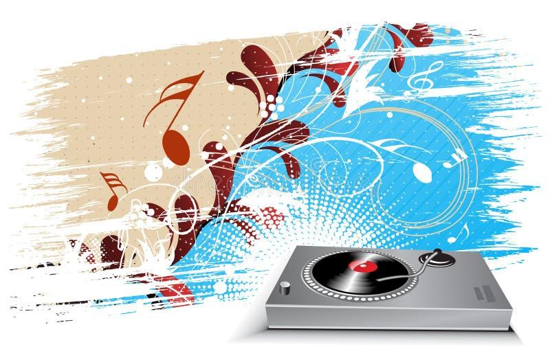 Tema abstrato da música ilustração stock
