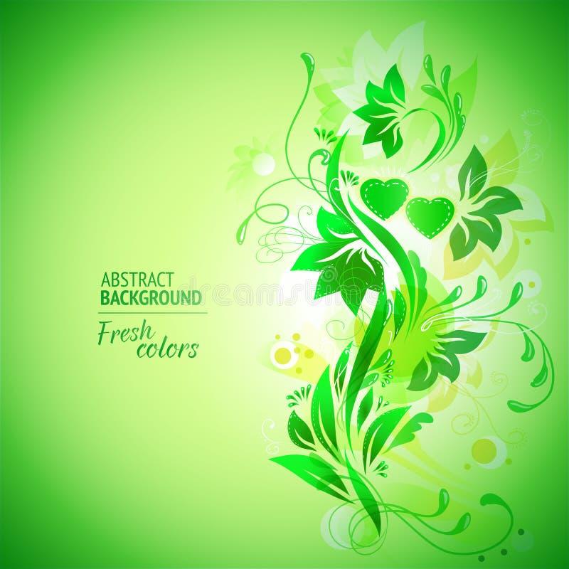 Tema abstrato floral do verão ilustração do vetor