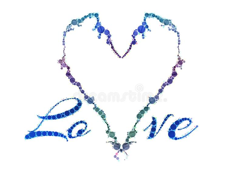 Tema adornado del corazón del amor ilustración del vector