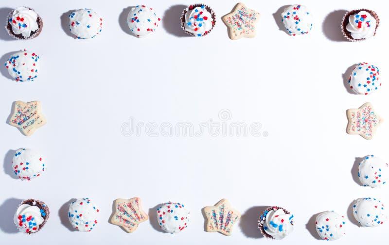Tema americano di festa con i dessert fotografia stock libera da diritti