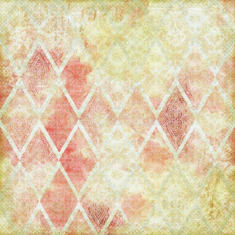Tema antigo floral do fundo do vintage ilustração do vetor