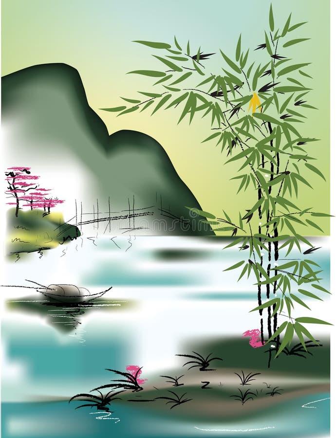 Tema asiático libre illustration