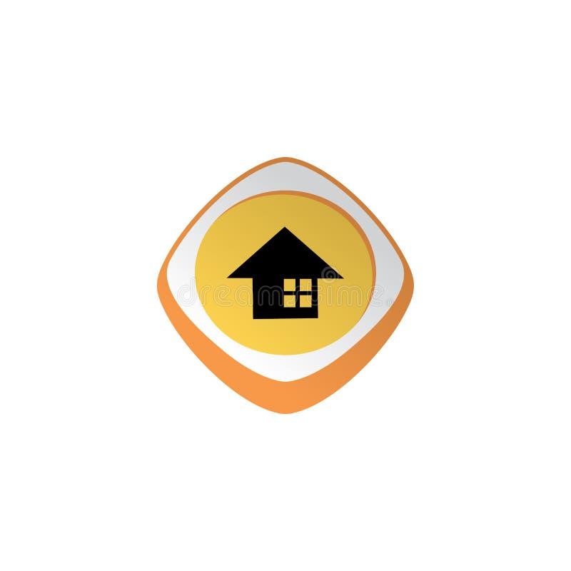 tema brillante casero del activo del juego del botón del icono del app del color libre illustration