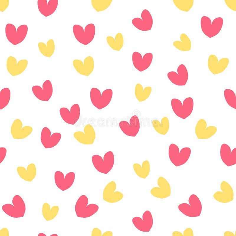 Tema colorido de moda de día de San Valentín del modelo del corazón del ejemplo inconsútil del vector stock de ilustración