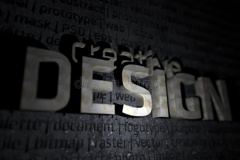 Tema creativo do projeto 3D ilustração royalty free