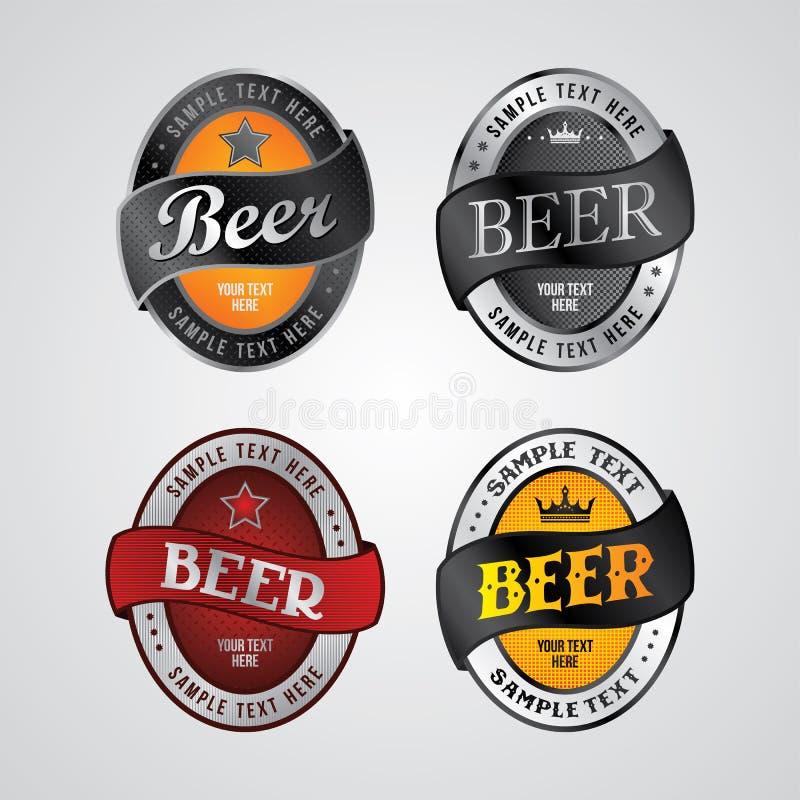 Tema da etiqueta da cerveja ilustração stock