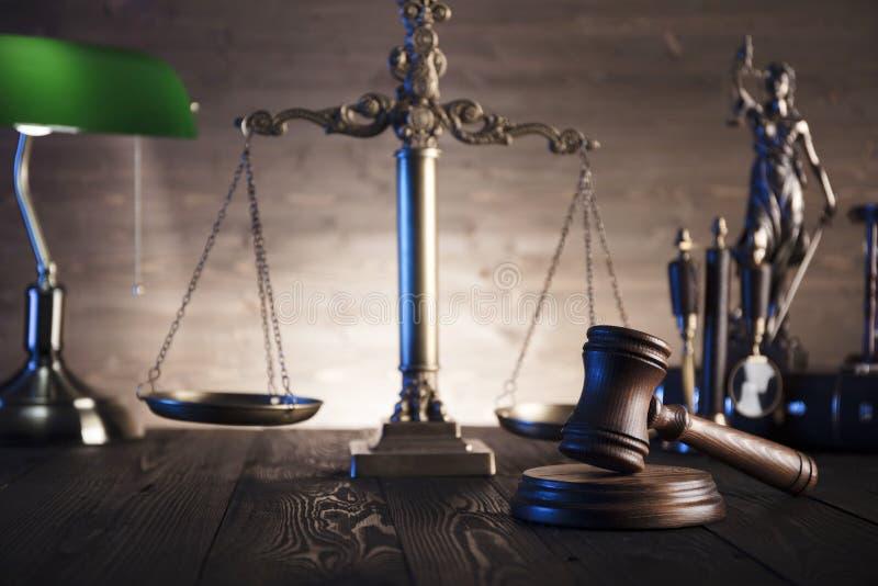 Tema da lei e da justiça foto de stock
