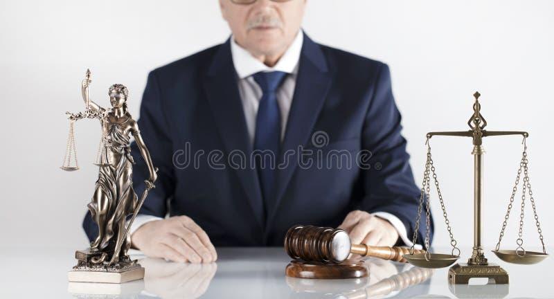 Tema da lei e da justiça Escritório do assessor legal Lugar para a tipografia imagens de stock royalty free
