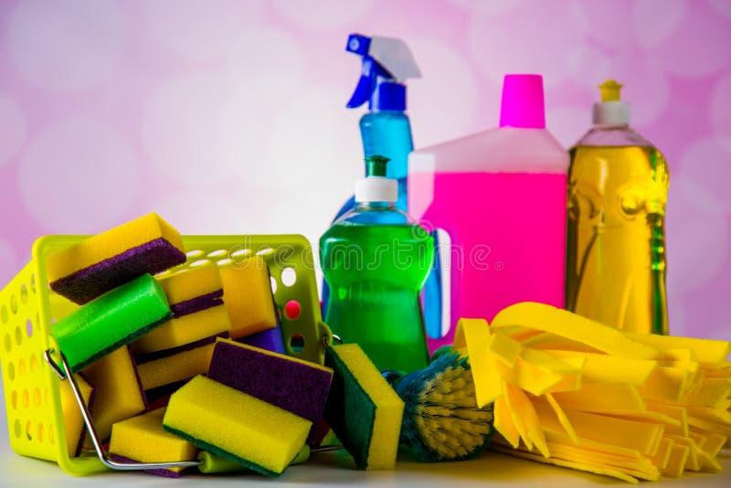 Tema da limpeza da casa imagens de stock