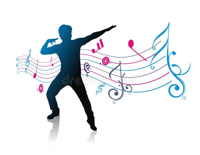 Tema da música ilustração do vetor