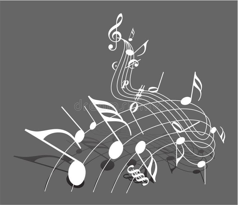 Tema da música ilustração royalty free