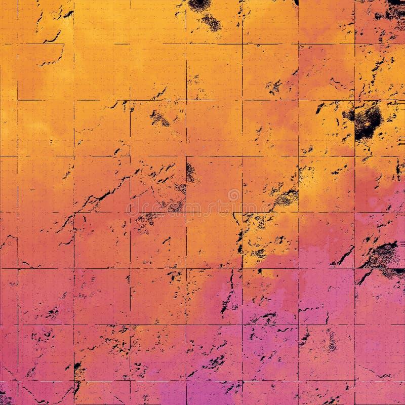 Tema da parede do Grunge Papel de parede com superfície pintada grossa Arte textured da pedra Fundo da fantasia Pintura fora desc ilustração stock