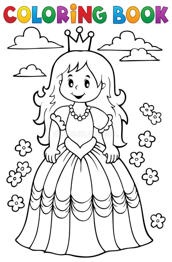 Tema 3 Da Princesa Do Livro Para Colorir Ilustracao Do Vetor