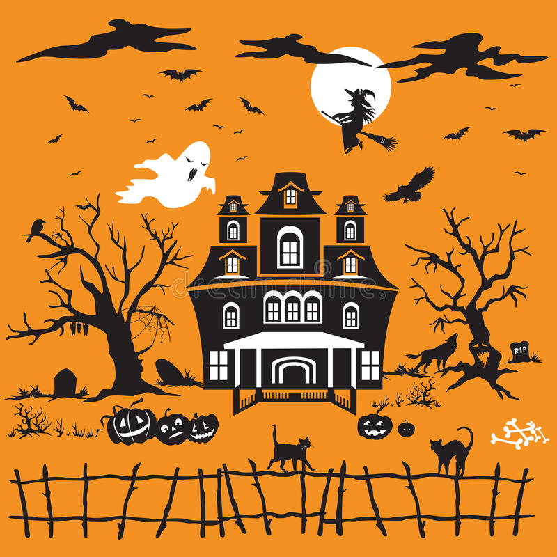 Tema de Halloween en vector libre illustration