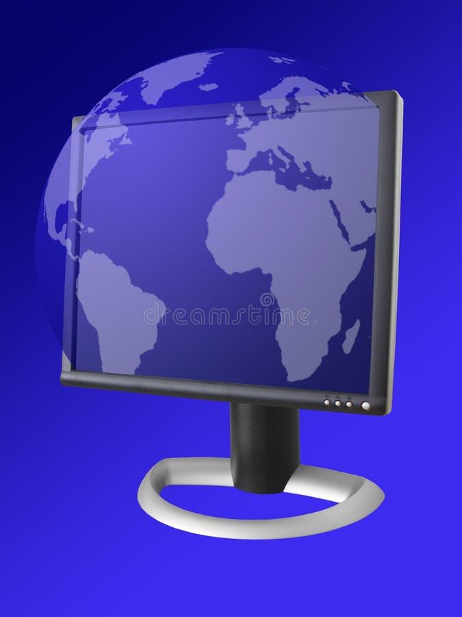 Tema de la comunicación del Internet stock de ilustración