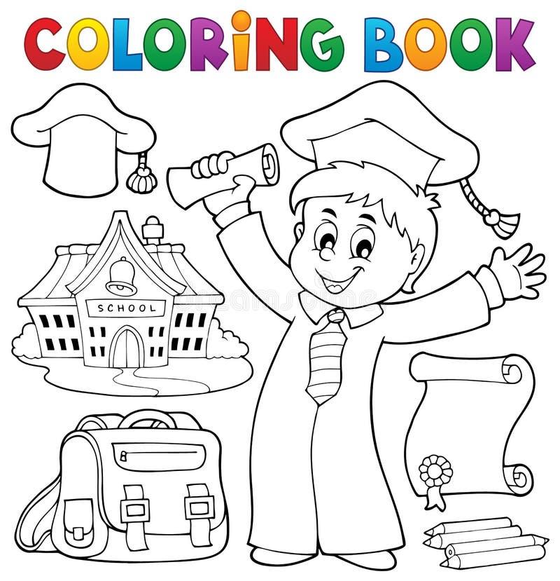 Tema 1 de la graduación del libro de colorear libre illustration