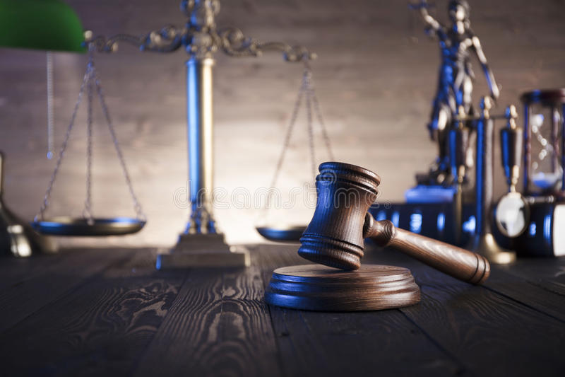 Tema de la ley y de la justicia fotos de archivo libres de regalías