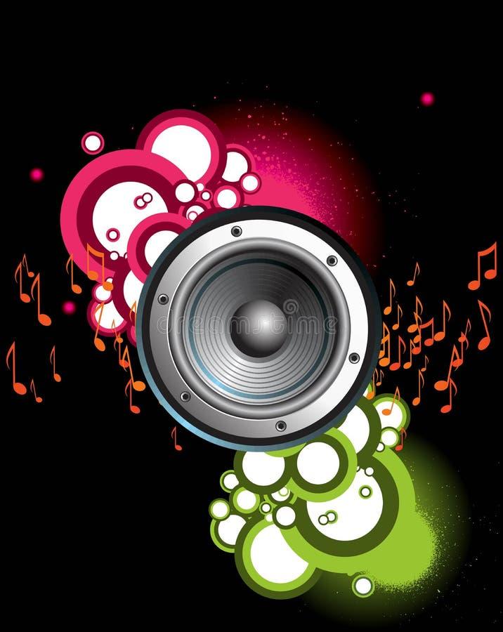 Tema de la música con el extracto libre illustration