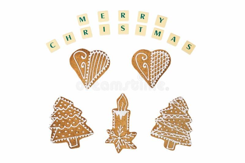 Tema de la Navidad con deseos en el fondo blanco fotografía de archivo libre de regalías