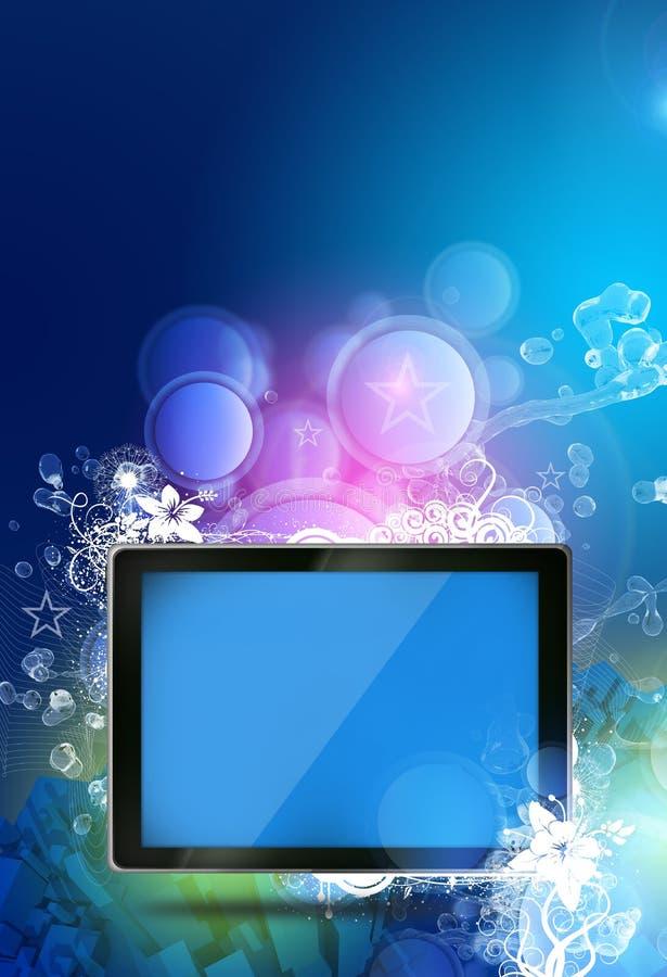 Tema de la tableta de la fantasía stock de ilustración