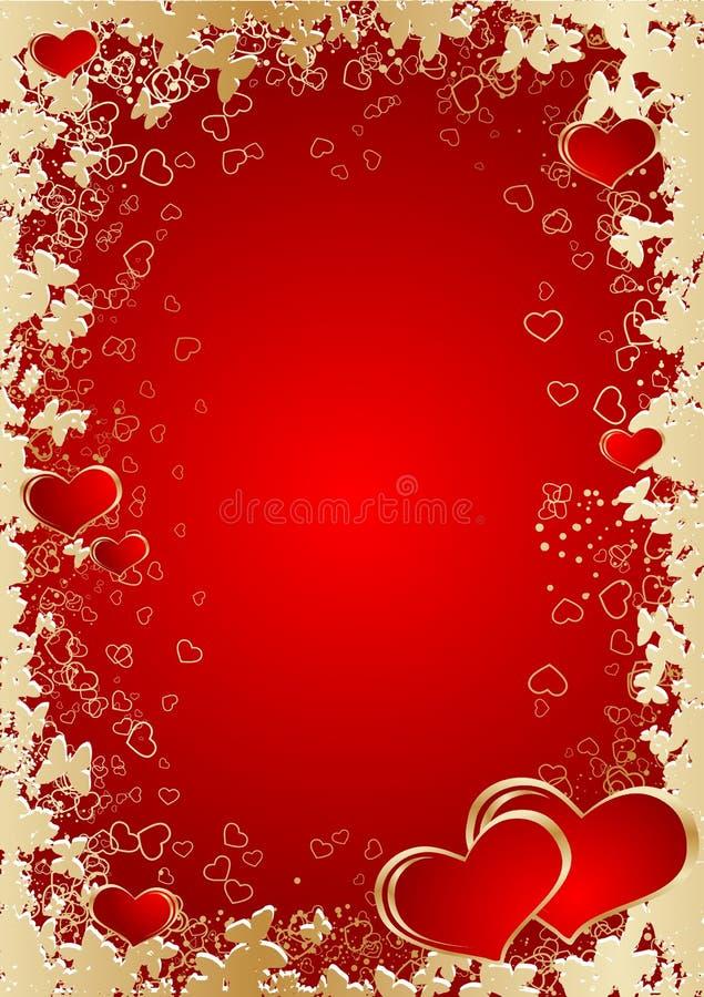 Tema de la tarjeta del día de San Valentín stock de ilustración