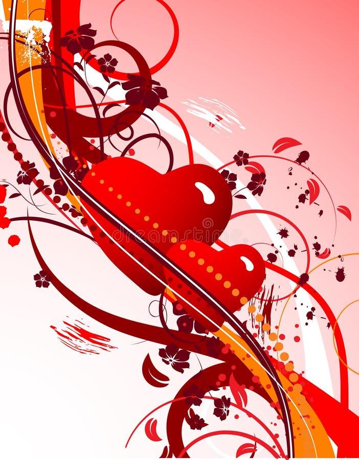 Tema de la tarjeta del día de San Valentín ilustración del vector