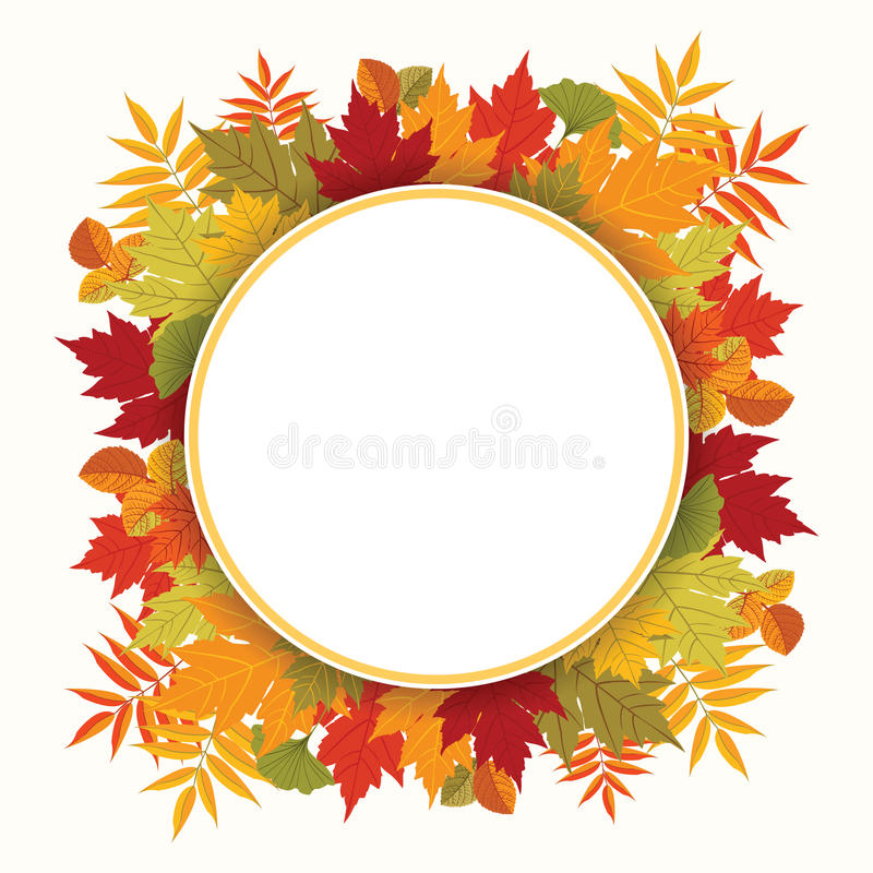 Tema de la temporada de otoño de la composición del otoño libre illustration