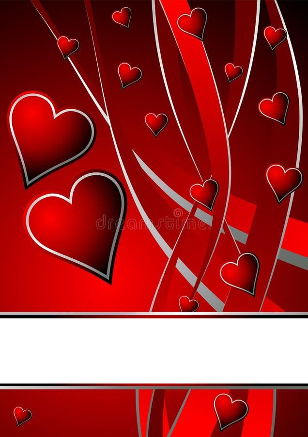 Tema de las tarjetas del día de San Valentín ilustración del vector