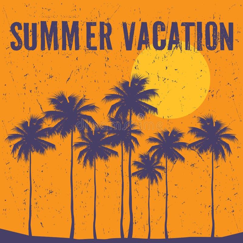 Tema de las vacaciones de verano, ejemplo del vector stock de ilustración
