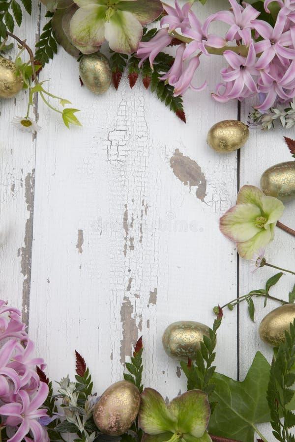 Tema de Páscoa de Quadro Floral fotos de stock
