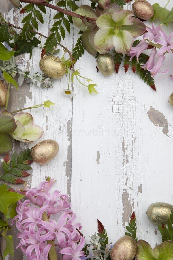 Tema de Páscoa de Quadro Floral imagens de stock