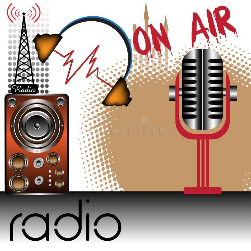 Tema de radio stock de ilustración